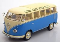 "KK Scale Volkswagen Bus T1 ""Samba""1962 Blue / Cream 1:18"